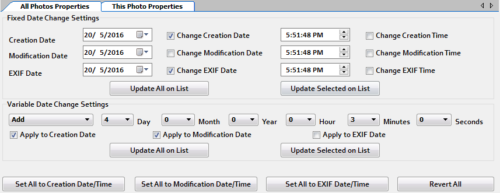 The Date Changer settings to apply static and variable date change. Changing Dates is a simple task
