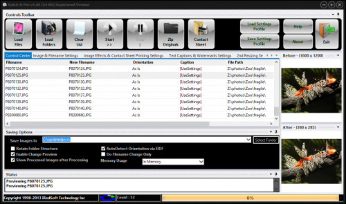 Click to view Batch It Pro 5.62 screenshot