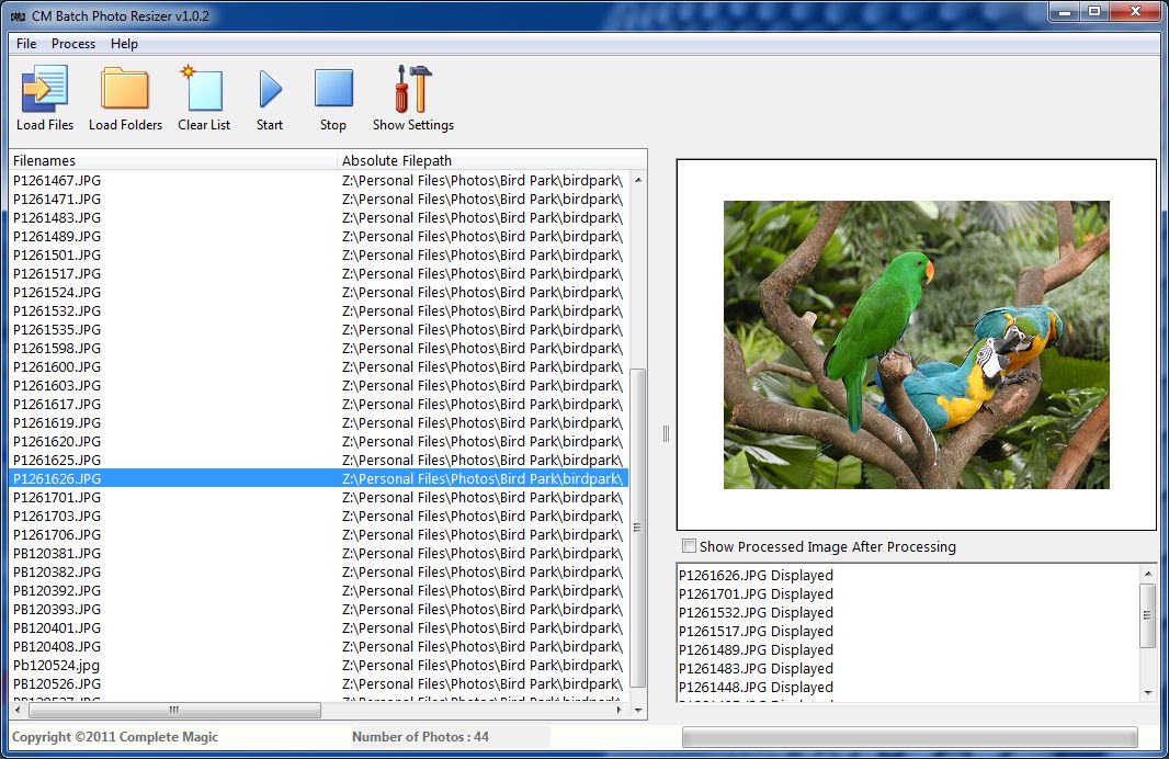 CM Batch Photo Resizer Screen shot