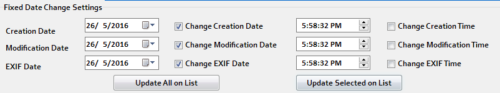 changing all dates to a specific date Using the Fixed Date Settings in Batch JPEG Date Changer