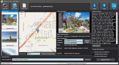 Embedding GPS and Notes in JPEG Photos