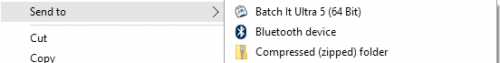 Batch It Ultra now supports the Contextual Menu Send To feature to add files to the application