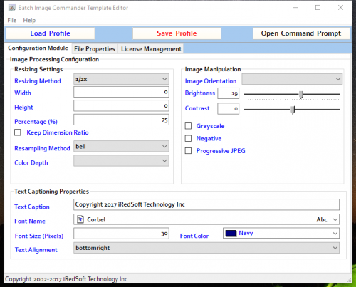 The Template Editor Configuration Module