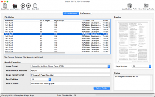 Batch TIFF and PDF Converter